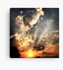 Electric Sunrays Canvas Print