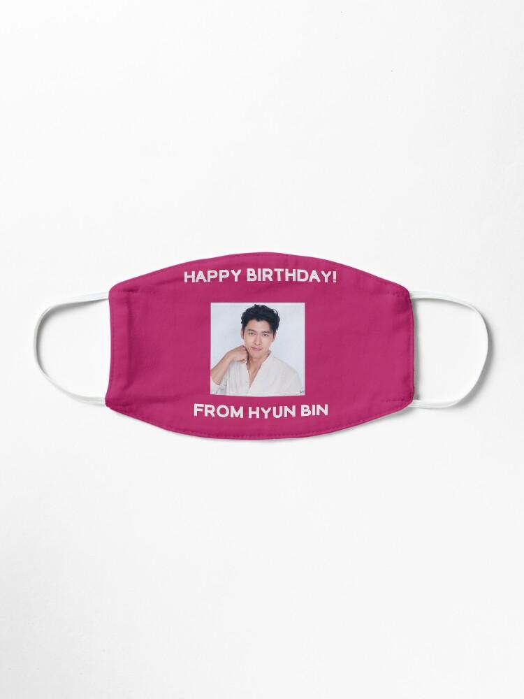 Alternate view of Happy Birthday From Hyun Bin  Mask