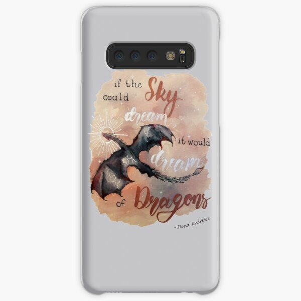 If the sky could dream, it would dream of dragons. by Ilona Andrews Samsung Galaxy Snap Case