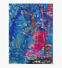 Unlimited Water Abstract Painting  Photographic Print