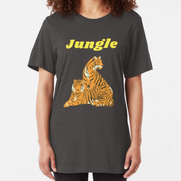 King of the Jungle Design, Tiger shirt and else, Big cat lovers Slim Fit T-Shirt