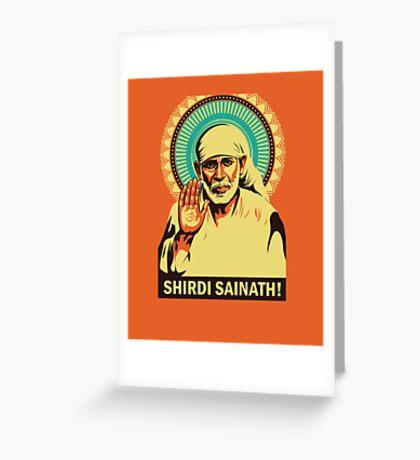 Sai Baba Greeting Card
