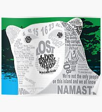 LOST Polar Bear Quote Poster Poster