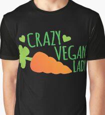 CRAZY VEGAN LADY Graphic T-Shirt