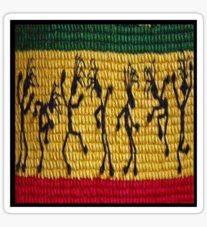 lively reggae dancers (square) front Sticker