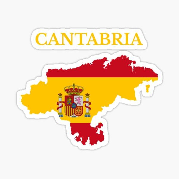 Mapa de Cantabria, España Pegatina