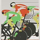Velodrome bike race by Andy Scullion