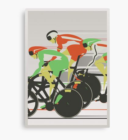 Velodrome bike race Canvas Print