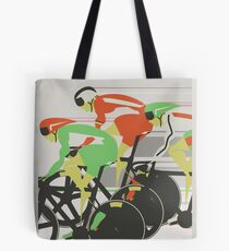 Velodrome bike race Tote Bag