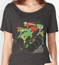 Velodrome bike race Women's Relaxed Fit T-Shirt