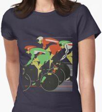 Velodrome bike race Womens Fitted T-Shirt