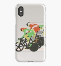 Velodrome bike race iPhone Case
