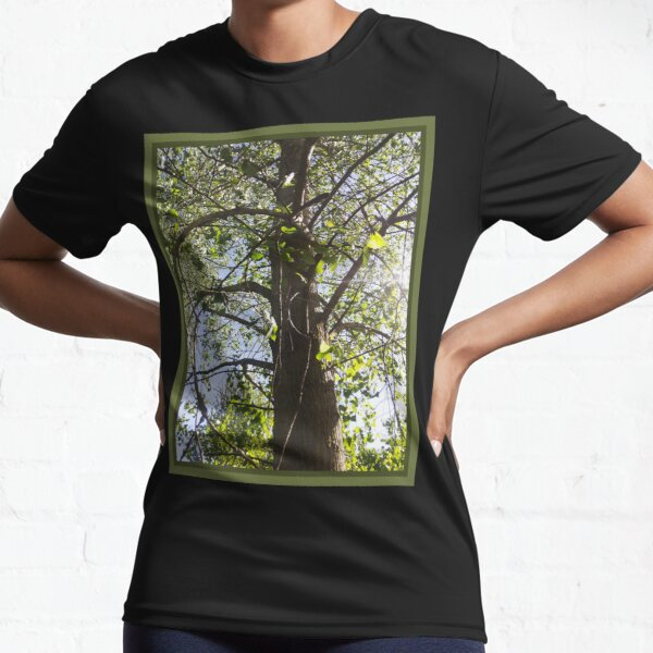 Curving Branches, Perspective Nature Photography by Courtney Hatcher Active T-Shirt