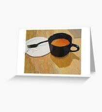 """Coffee shop"" Greeting Card"