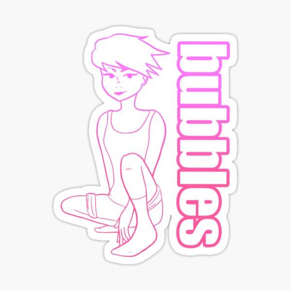 Bubbles Pink Sticker