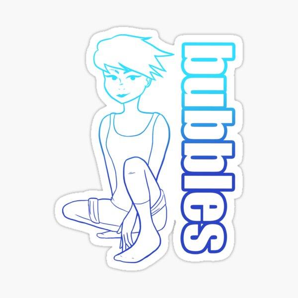 Bubbles Blue Sticker