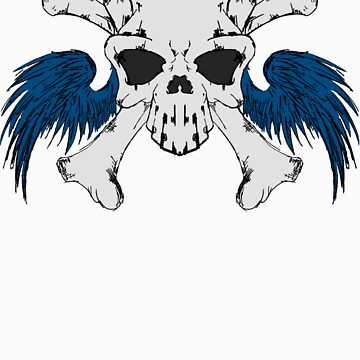 Winged Skull and Crossbones by DemonKingGrim
