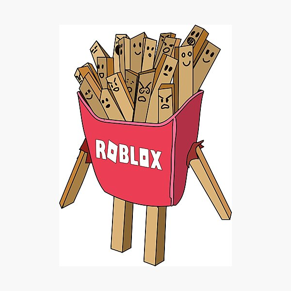 roblox avatar french fries skin  Photographic Print