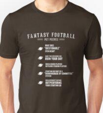 Fantasy Football Pet Peeves T-Shirt