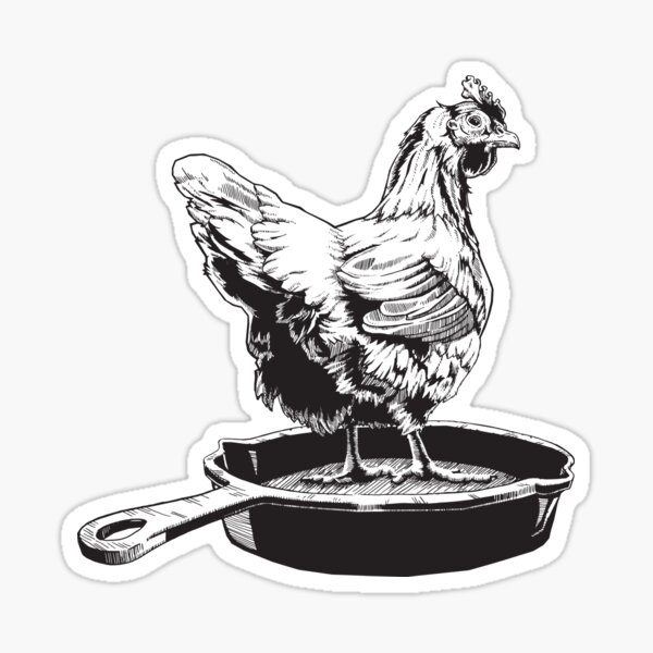 Chicken Skillet Sticker