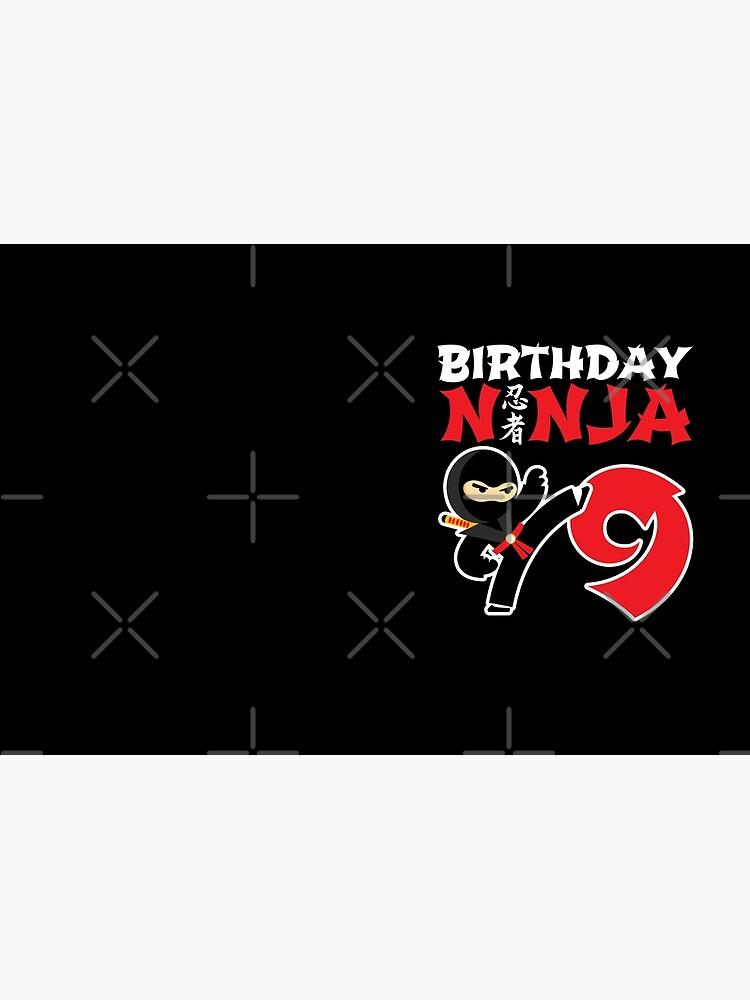 Birthday Ninja 9 - 9 Year Old Ninja Party Theme by teemixer