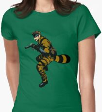 Tanooki Camouflauge Women's Fitted T-Shirt