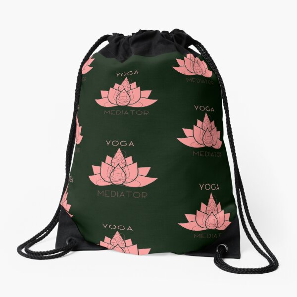 Yoga Mediator Drawstring Bag