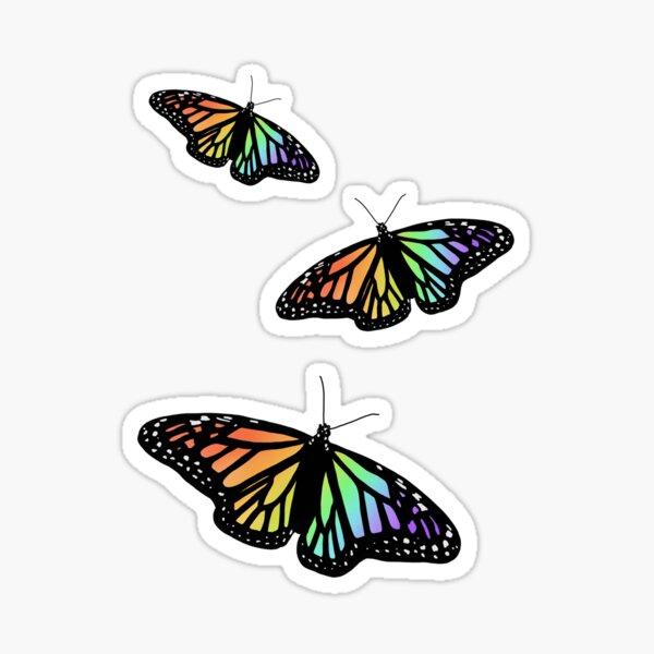 lil rainbow butterflies (pack) Sticker