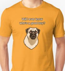 Who's A Good Boy? - Simple Font Unisex T-Shirt
