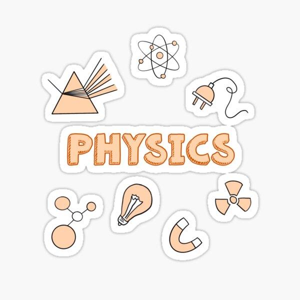 Orange Physikschule Fach Aufkleber Pack Sticker