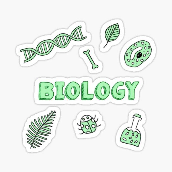 grüne Biologie Schule Fach Aufkleber Pack Sticker