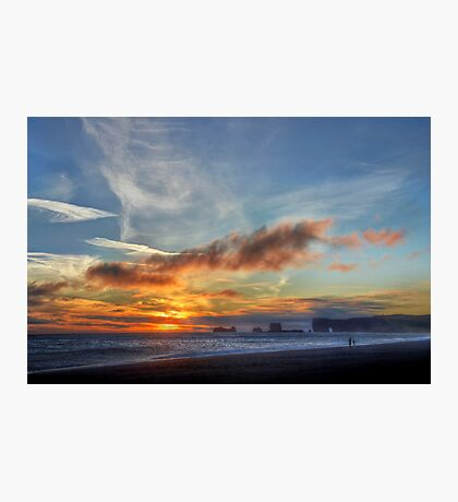 Sunset at Dryholaey Photographic Print