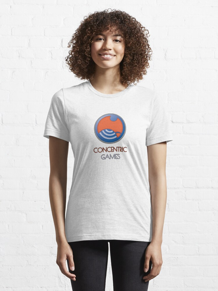 Alternate view of ConCentric Games Logo Essential T-Shirt