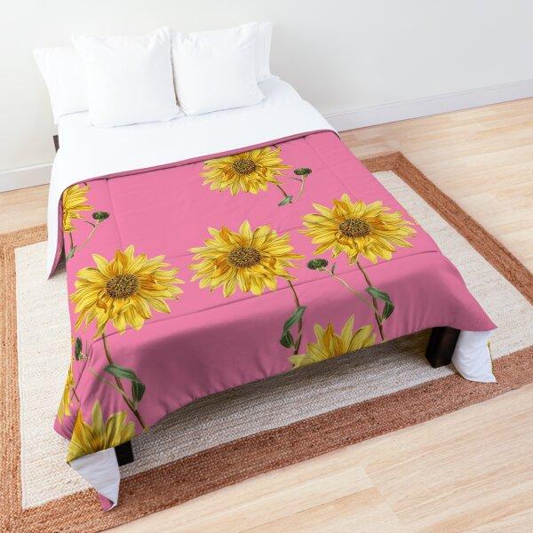 A Trio Of Sunflowers Comforter