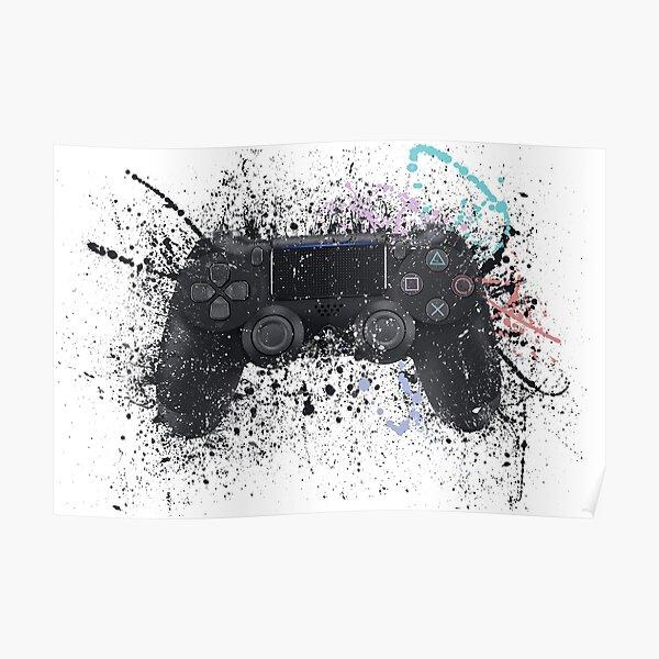 Controlador de juegos Playstation de nueva generación Póster