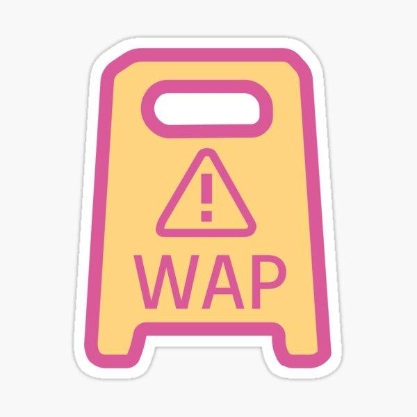 Panneau d'avertissement WAP Sticker