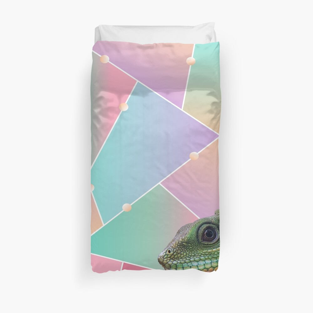 Geometric Pattern Chinese Water Dragon Duvet Cover