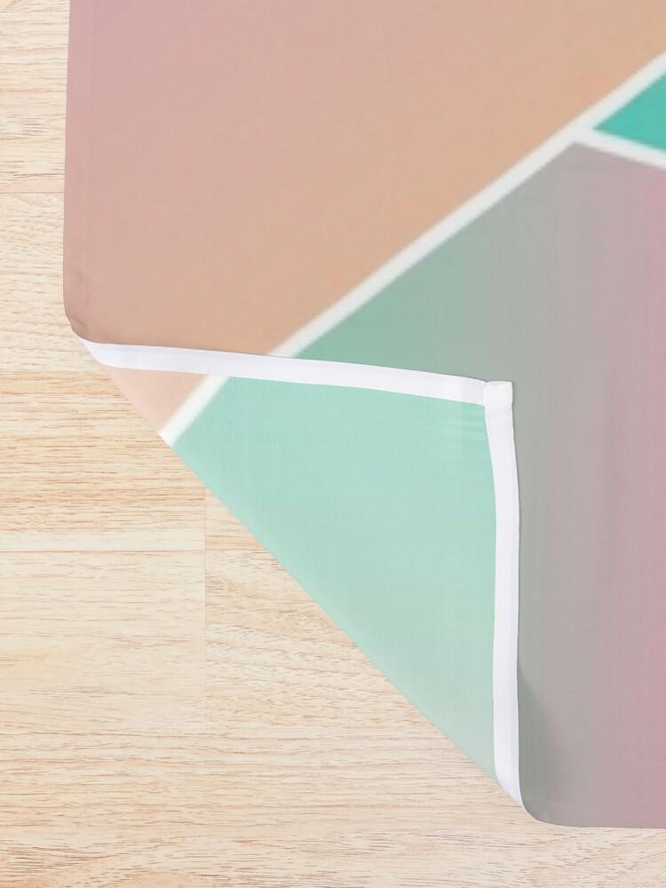 Alternate view of Geometric Pattern Chinese Water Dragon Shower Curtain