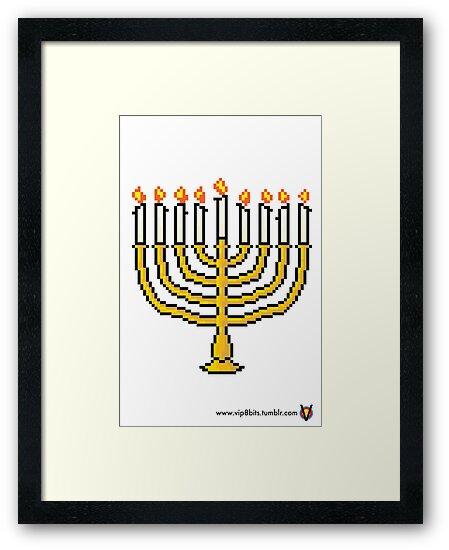 Menorah - V:IPixels Holiday Collection by Victor  Dandridge