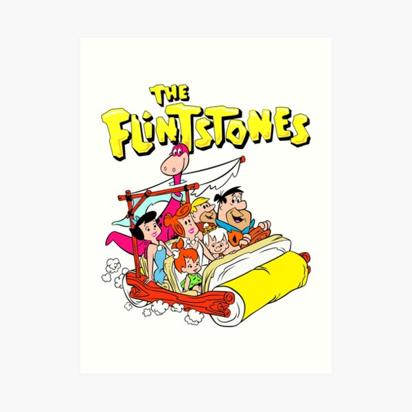 The Flintstones The Whole Gang Art Print