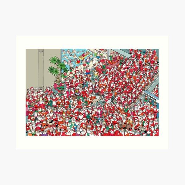 Santa Convention Art Print