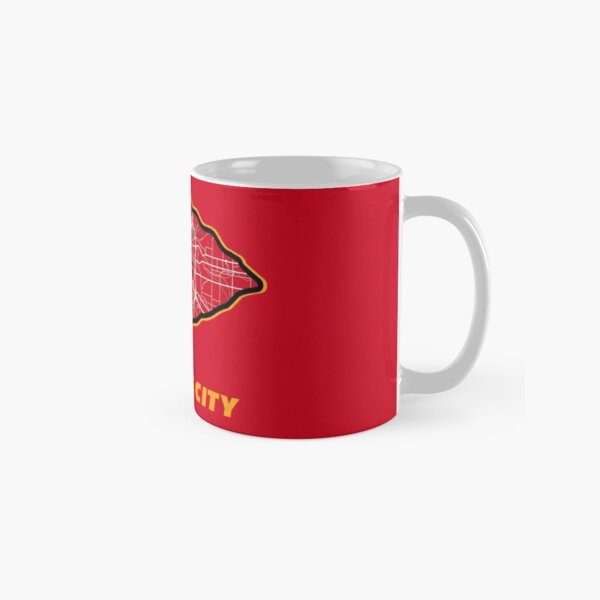 Kansas City Arrowhead Map in Chiefs Colors Classic Mug