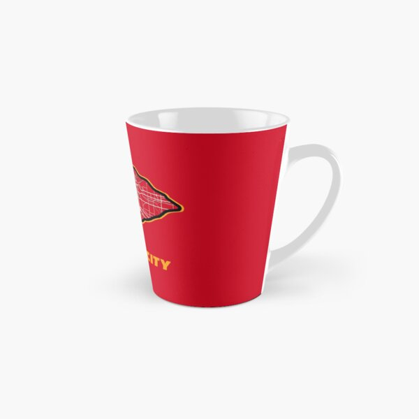 Kansas City Arrowhead Map in Chiefs Colors Tall Mug