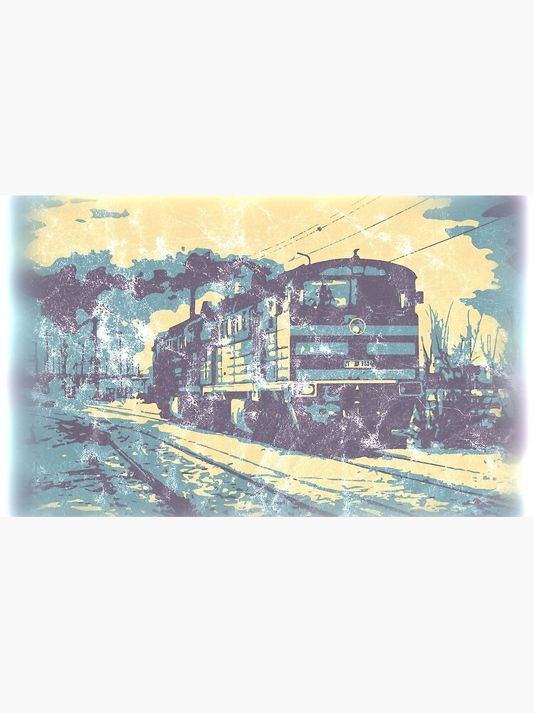 Three Colour Railway Train by modelrailway