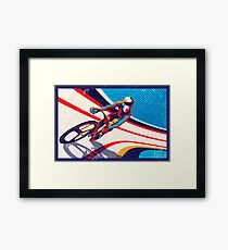 retro track cycling print poster Framed Print
