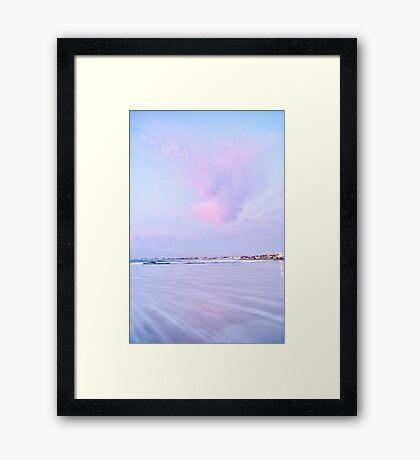 Sunset Rush Framed Print