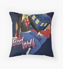 The Bad Wolf - Print Throw Pillow