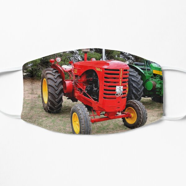 Old red tractor Mask