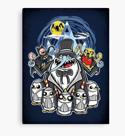 Penguin Time - Print Canvas Print