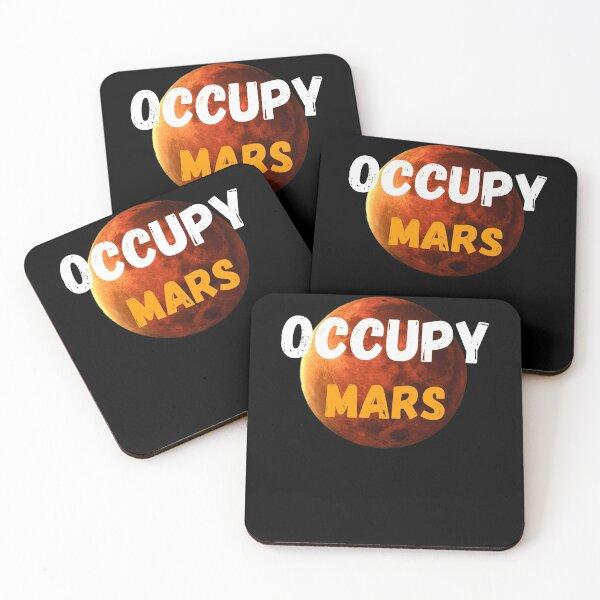 Occupy Mars Terraform Design Coasters (Set of 4)